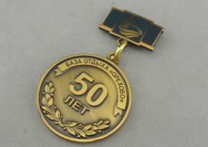Zinc Alloy Custom Awards Medals Die Costing Antique Gold