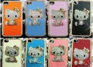 China Cute Bear Crystal Stone Case Top Quality Luxury Case For Iphone 4s, Fo on sale