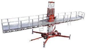 China 4 x 2.2 KW power single mast climber work platform with Balance Device on sale