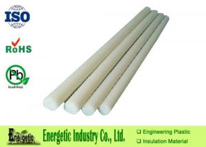 China Extruded White PVDF Rod , High Hardness Polyvinylidene Fluoride on sale