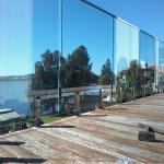 Flooring mount Swimming Pool Tempered glass balustrades with steel spigots