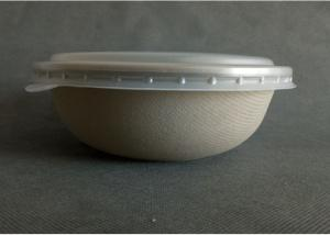 China biodegradable and compostable wheat straw pulp paper salad bowl on sale