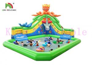 China Colorful Sea Animal Theme Durable PVC Blow Up Water Park With Slide / Pool / Water Toys on sale