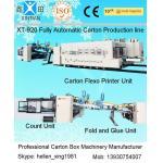 La impresora Slotter de Flexo de la máquina de la fabricación del cartón muere cortador con la carpeta Gluer Bundler