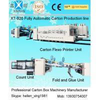 Carton Manufacturing Machine Flexo Printer Slotter Die Cutter With Folder Gluer Bundler