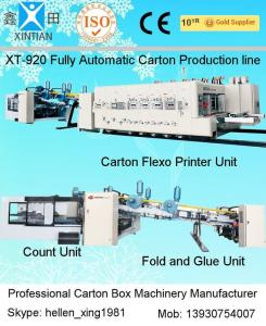 China Carton Manufacturing Machine Flexo Printer Slotter Die Cutter With Folder Gluer Bundler on sale