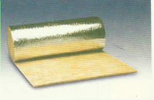 China Thermal Rockwool Insulation Blanket Flexible Faced With Aluminum Foil on sale