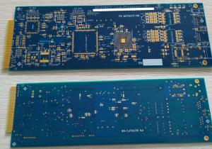 China 6 layers Rigid FR4 PCB with ENIG surface and hard plating gold finger 10u on sale
