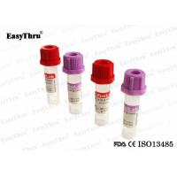 China Capillary Blood Collection Tubes Draw Volume 0.25ml 0.5ml 0.2ml 100% Medical Grade on sale