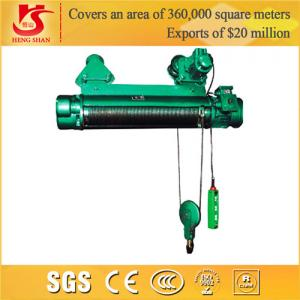China Single and double speed general application lifting electric wire rope hoist on sale