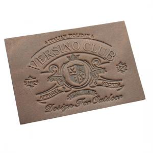 China Promotional Custom Clothing Labels Laser Engraved Silk Screen Printed Advertising on sale