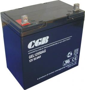 China Automotive Rechargeable Gel Lead Acid Battery 12V 55AH For Solar System on sale