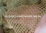 Light Diffusing Chainmail Metal Ring Mesh For Decoraive Interior Partition
