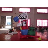 China Strong PVC Nylon Standing inflatable zebra Advertising Signs Beautiful big Inflatable Zebra for sale on sale