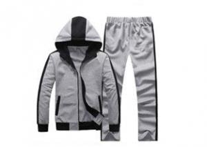 China Personalised Youth Sports Uniforms , Grey Color 100% Cotton Team Athletic Apparel on sale