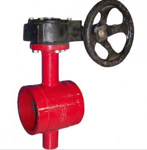 China Grooved butterfly valve on sale