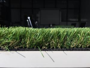 China 10500 Dtex Artificial Grass Lawns Outdoor Artificial Turf 2m / 4m Roll Width on sale