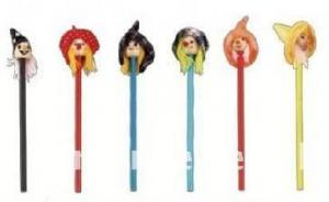 China cartoon sharped wooden pencil on sale