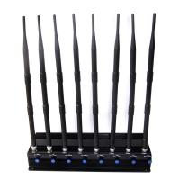 Adjustable 8 Antennas High-power Cell phone 2.4G 5.8G 5.2G Wifi Jammer Signal Blocker