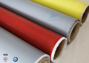 China 260℃ High Temperature E-glass Satin/Twill Silicone Coated Fiberglass Fabric on sale