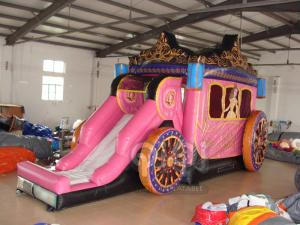 China Inflatable Princess Carriage Coach Combo on sale