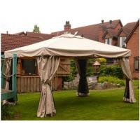 Large UV - Resistance Steel Patio Event Garden Gazebo Tent With Beautiful Curtains