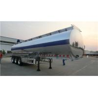 Aluminum Alloy Tanker Heavy Duty Semi Trailers 20 Tons With 3 BPW Axles 12 Wheels