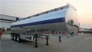 China Aluminum Alloy Tanker Heavy Duty Semi Trailers 20 Tons With 3 BPW Axles 12 Wheels on sale