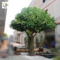 China UVG Artificial green christmas decoration tree with silk leaves for festival landscaping on sale