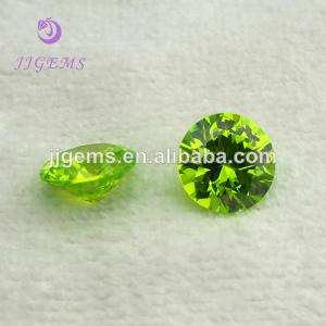 China Top Quality Wuzhou Factory Price Apple Green Cubic Zirconia on sale