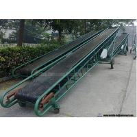 Mobile Portable Grain Loading Container Belt Conveyor For Grain Carbon Steel Frame