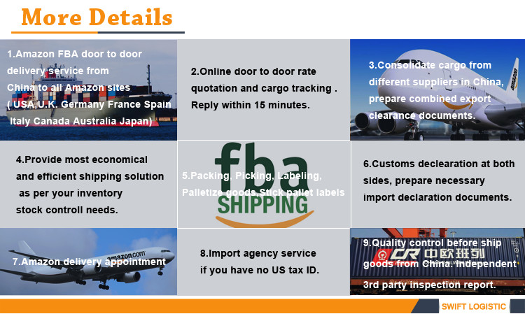 USA Iinternational Freight Services Amazon Shipping Fast Dhl