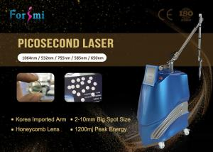 China Korea arm Optional 650 580 755 Picosecond Nd Yag Laser Enlighten Pico Laser For Tattoo Removal on sale
