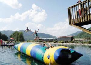 China Floating Inflatable Water Trampolines , Lake Inflatable Water Blob on sale