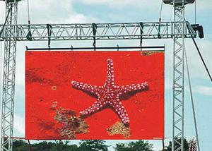 China Rental Outdoor LED Display P6 , Commercial Advertising LED Video Wall SMD3535 on sale