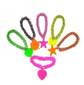 China colorful rainbow loom band kit,silicone rainbow loom bracelet on sale