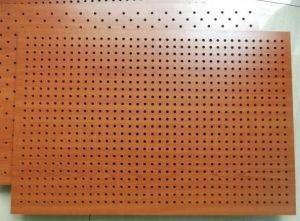 China Fireproof Wooden Acoustic Perforated MDF Panels For Wall And Ceiling on sale
