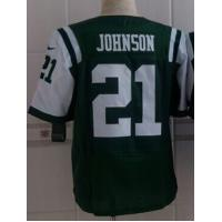 China NFL jerseys New York Jets York Jets 21#Johnson    green&white  Elite Jerseys on sale