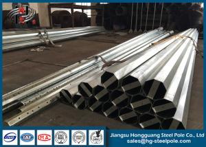 China NEA Standard Conical Hot Dip Galvanized Steel Power Transmission Poles 10 KV to 220 KV on sale