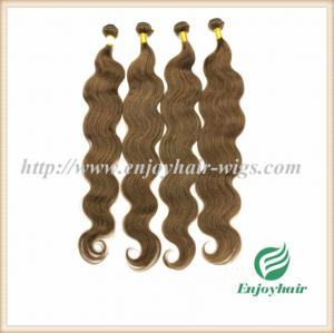 China Indian virgin hair weave hair extension 8# color body wave hair 10''-26'' hair extension supplier