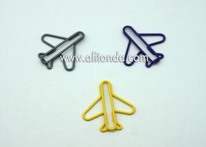 China Cute shape creative plane shape bookmark metal book folder Paper clip bookmark on sale