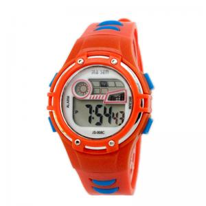 China Childrens Fashion Orange Kids Digital Watches Athletic Watches on sale