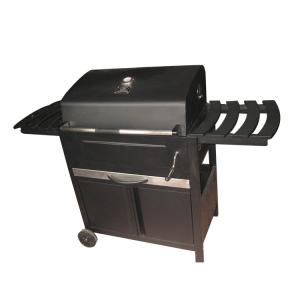30`` Deluxe Full Cart Charcoal Grill Cold Rolled Sheet BBQ Grill Adjustable  Height