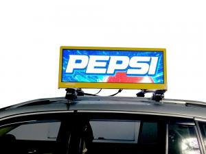 China Wireless SMD2727 Taxi Led Display / Taxi Top Sign for Dynamic Advertising on sale