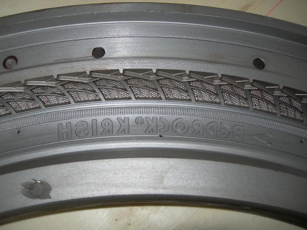 Bicycle / Wheelchair Tyre Mould , high precision EDM Tyre