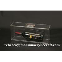 China Fashion acrylic wine bottle display box perspex wine bottle holder wholesale on sale