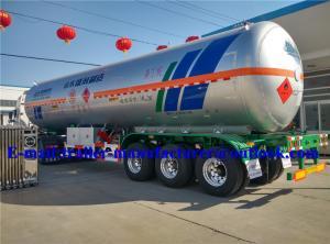 China Pressure LPG Semi Trailer , Co2 Tank Semi Trailer Max Payload 23000kg on sale