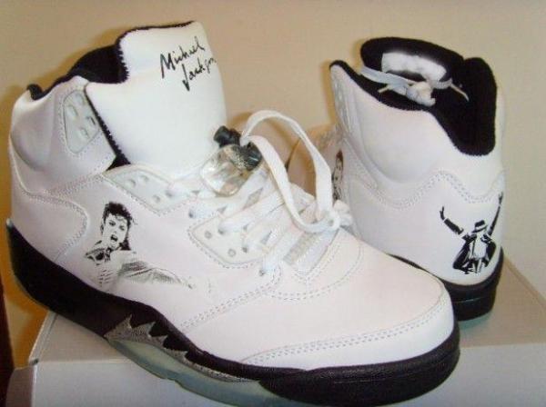 Aire Jordania Michael Jackson 12001 zapato deporte blanco