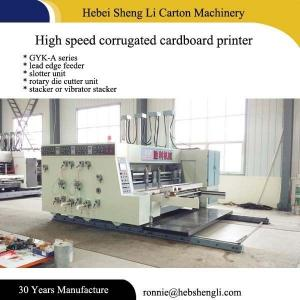 China Efficient Cardboard Box Printing Machine Easy Operation L5500*W4500*H2500mm on sale