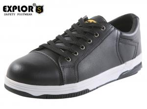 China men's black work shoes steel toe shoes safety shoes sport work shoes on sale